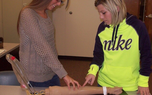 Photo of medical office assisting student