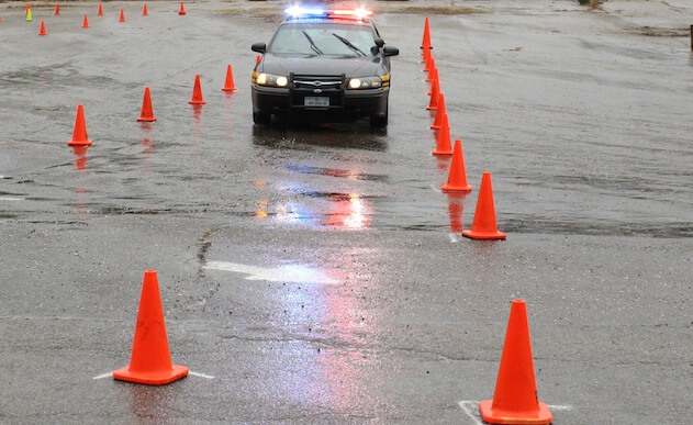 Photo of peace officer training driving course