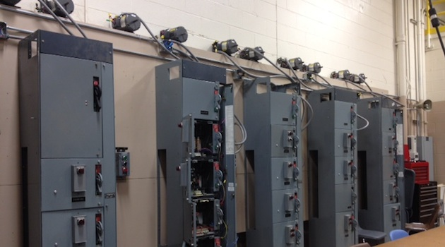 Photo of electrical boxes