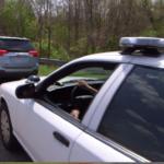 Photo of traffic stop simulation